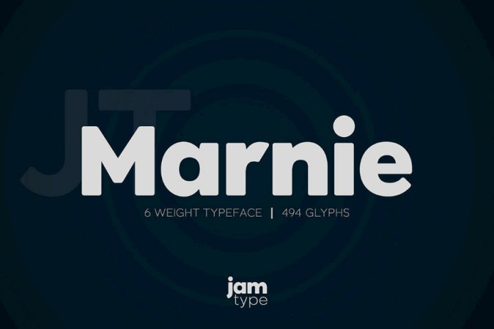 Marnie Typeface Free Weight