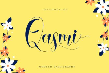 Qasmi Script Font Demo