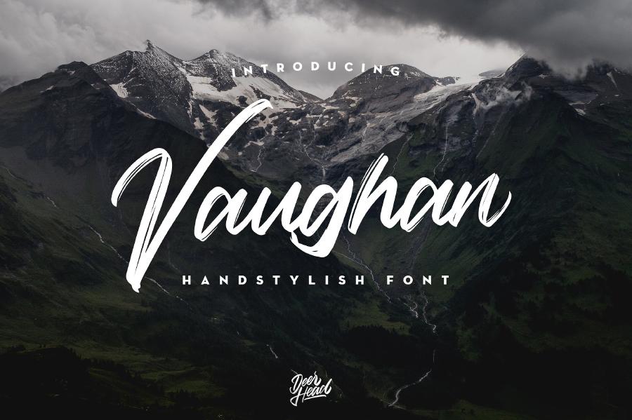 Vaughan Handstylish Font Demo