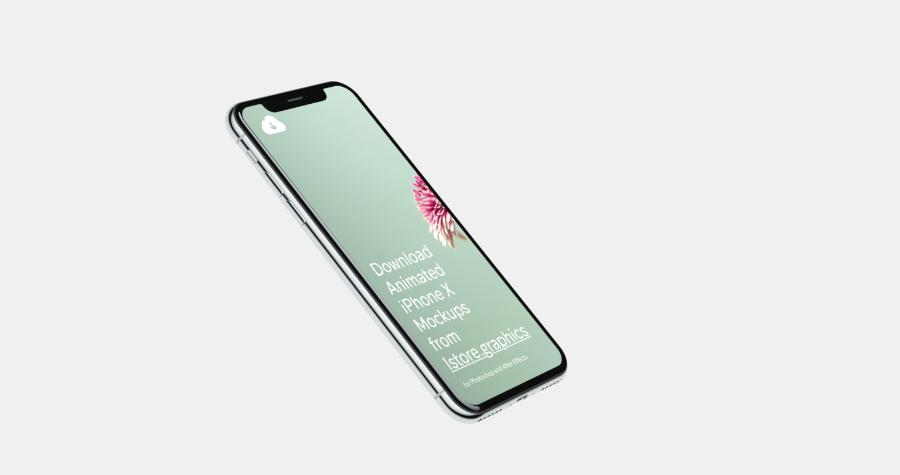 4K Free iPhone X Mockup