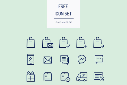 50 Free E-Commerce Icon Set