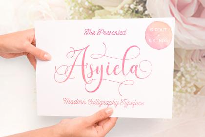 Asyiela Script Font Demo