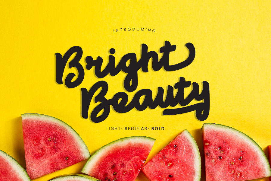 Bright Beauty Font Demo
