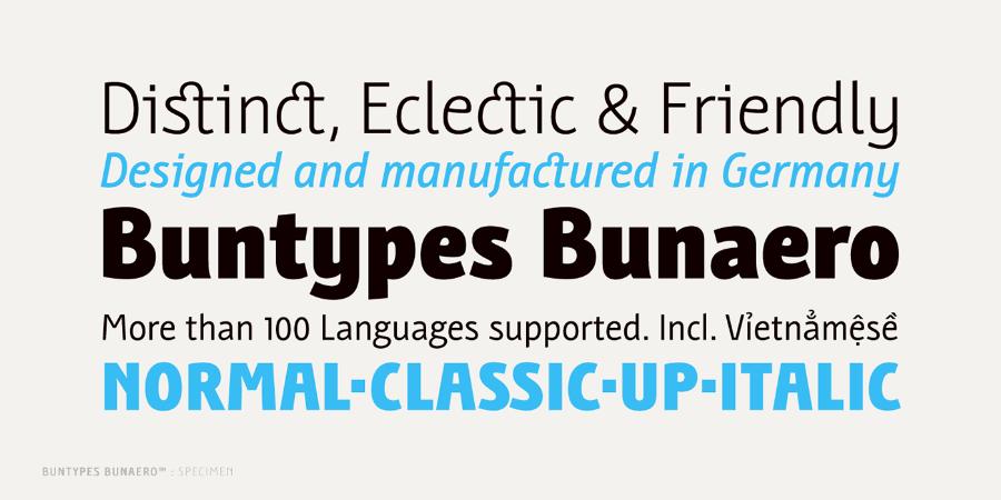 Bunaero Pro Font Family Demo