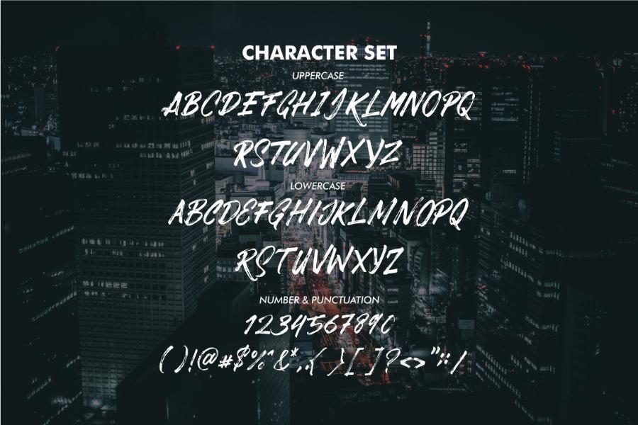 Dabrush Free Demo Typeface