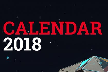 2018 Digital Art Calendar Template