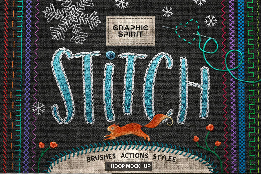 Free Stitch Brush Photoshop
