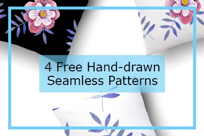4 Free Hand-drawn Patterns