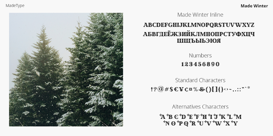 Made Winter Serif Font Duo