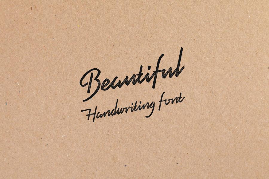 Pristine Handwriting Free Typeface