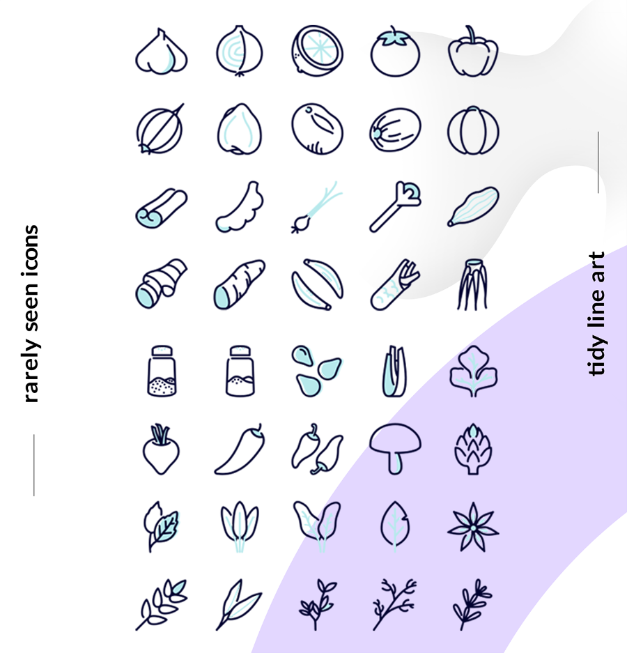 Free 40 Spices Icon Pack