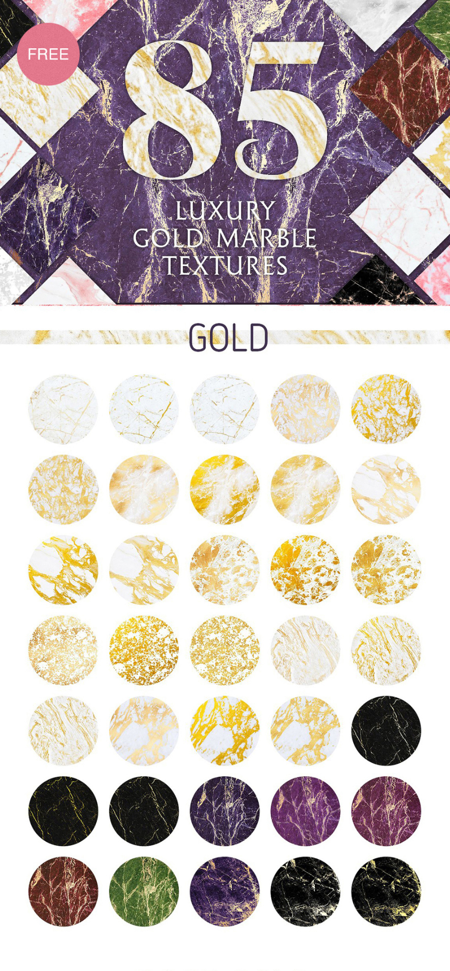10 Luxury Gold Marble Textures