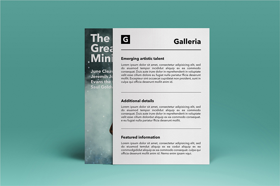 Galleria Event Flyer Template