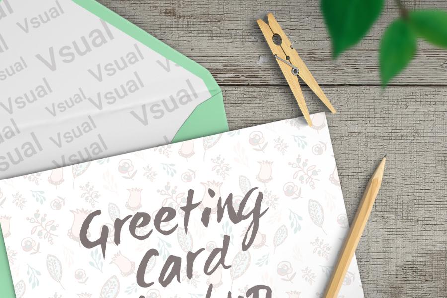 Fresh Greeting Card Mockup