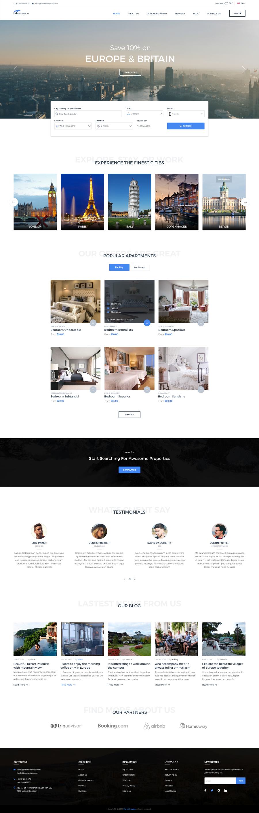 HomeEstate Free PSD Template