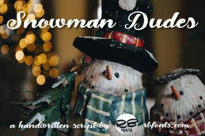 Snowman Dudes Font Demo