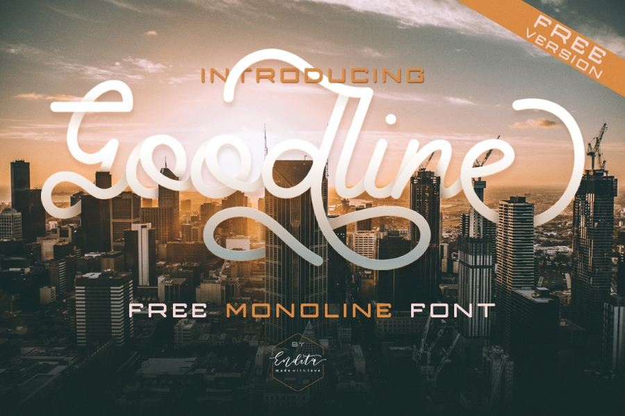 Goodline Script Free Font