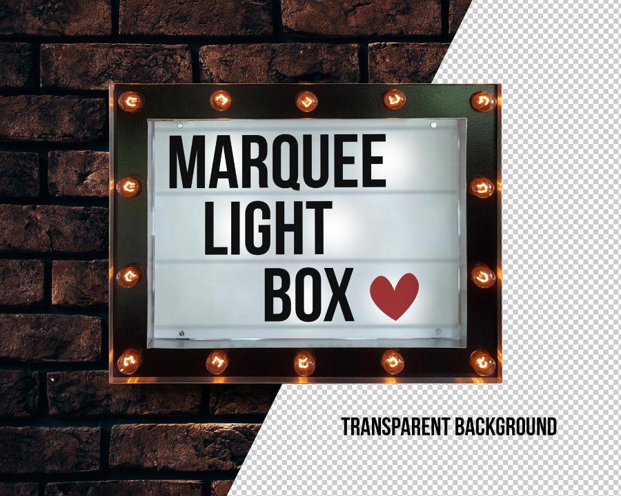 Free Marquee Light Box Mockup