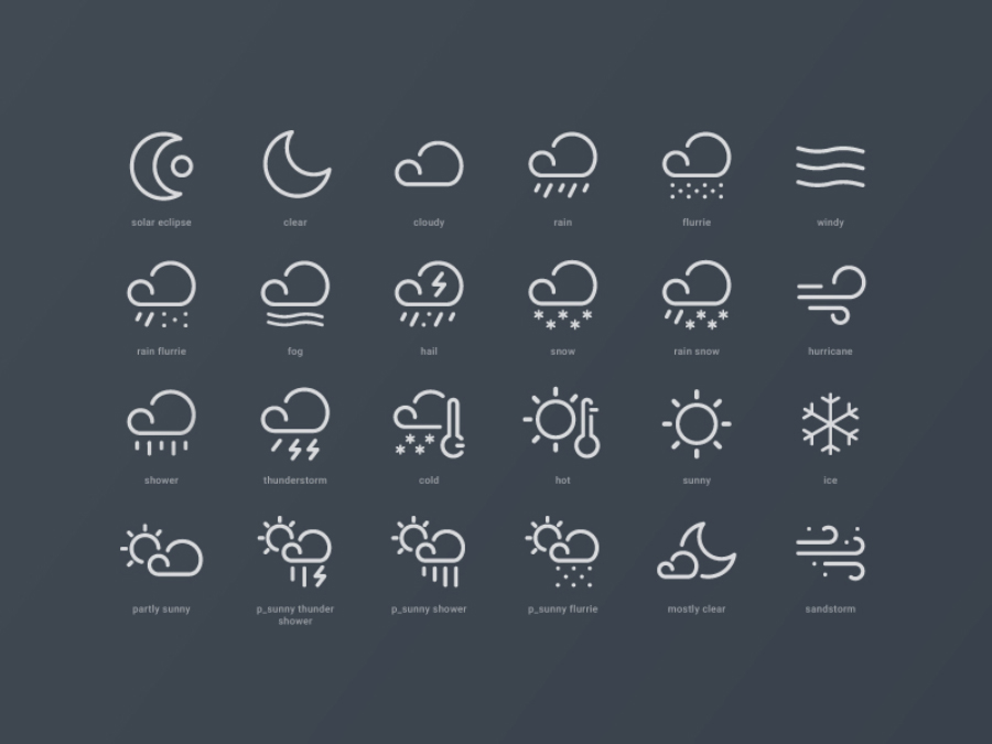 Free Weather Widget Icons