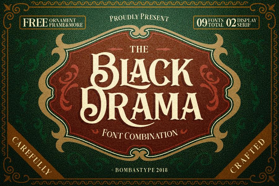 black drama free demo font � free design resources
