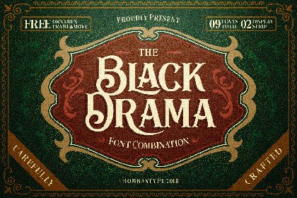 Black Drama Free Demo Font