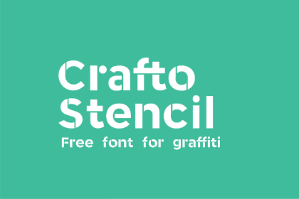 Crafto Stencil Free Typeface