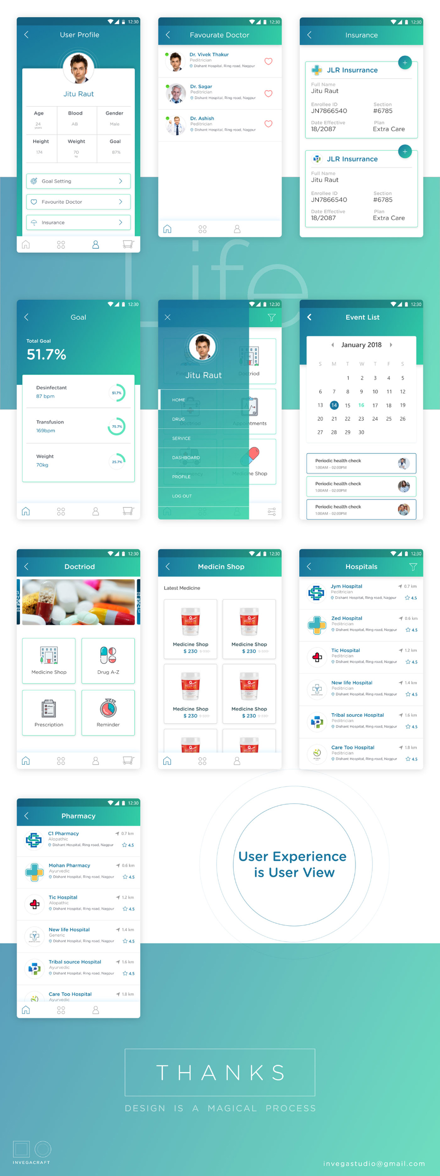 Doctriod Health Care UI Kit