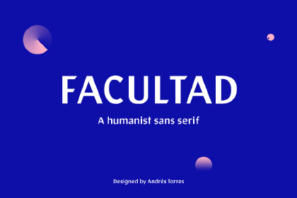 Facultad Free Display Sans