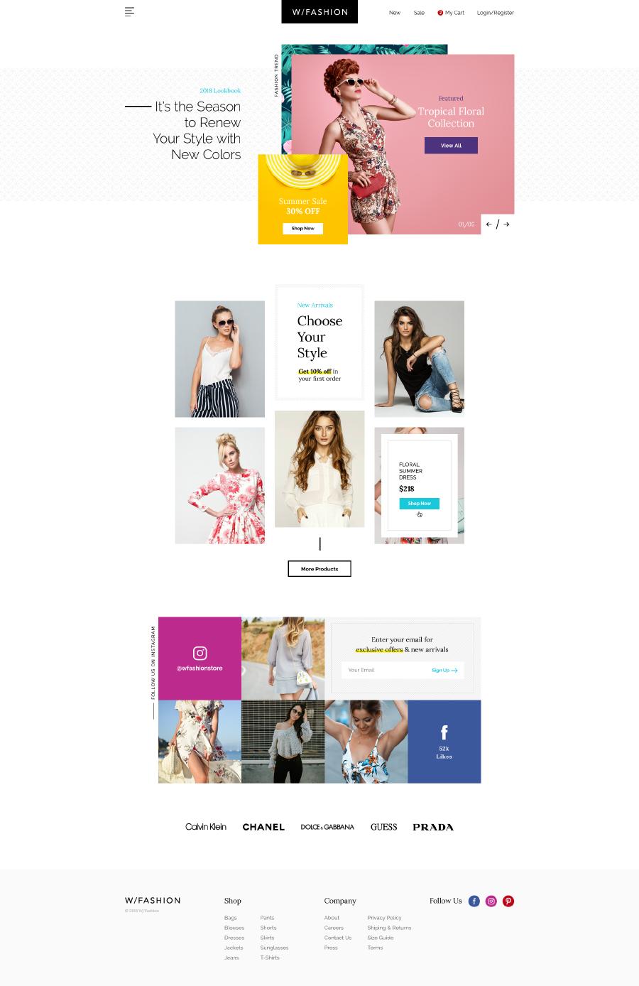 Free fashion store psd template free design resources free fashion store psd template pronofoot35fo Choice Image