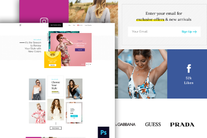 Free Fashion Store PSD Template