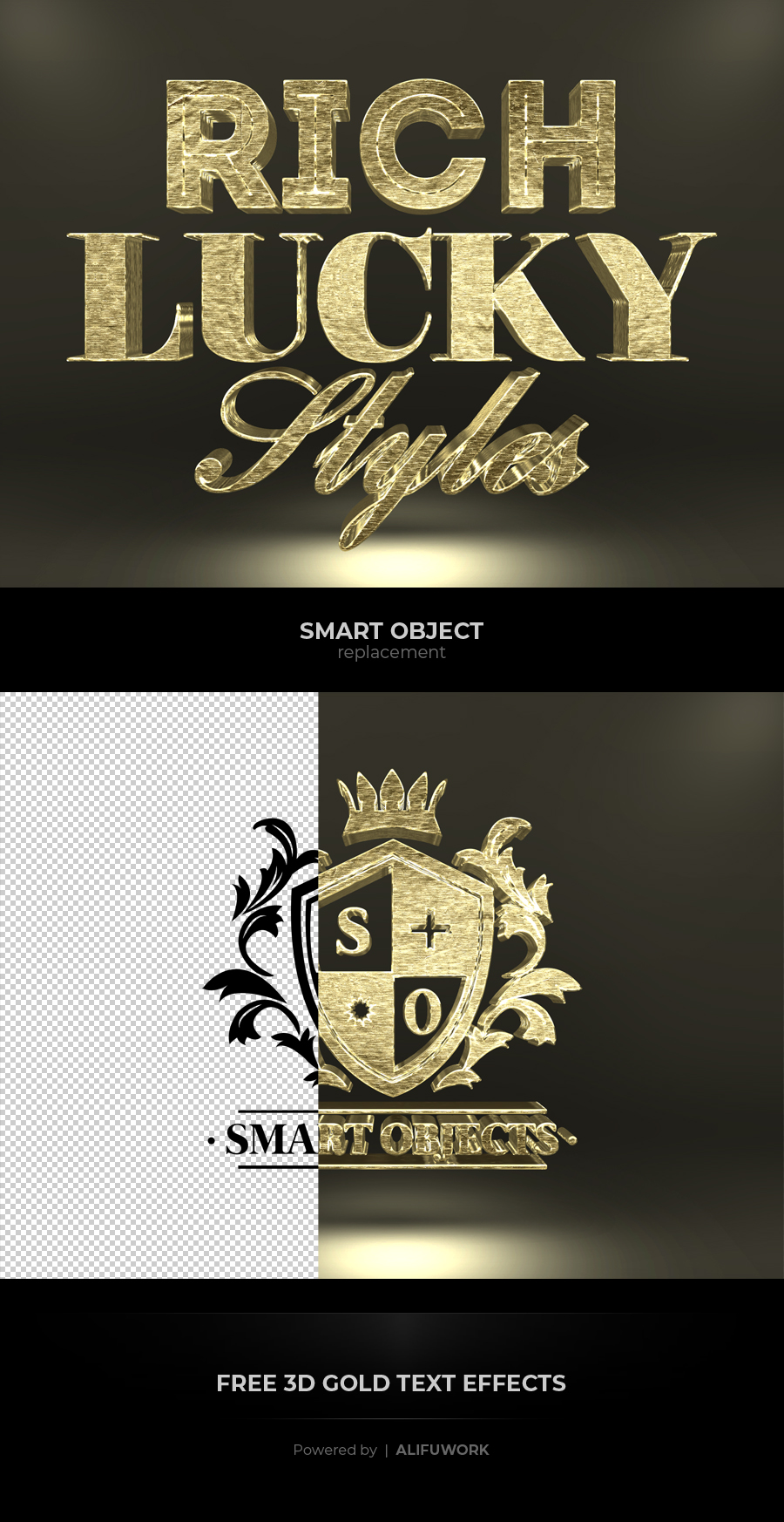 Free 3D Gold Text Effects