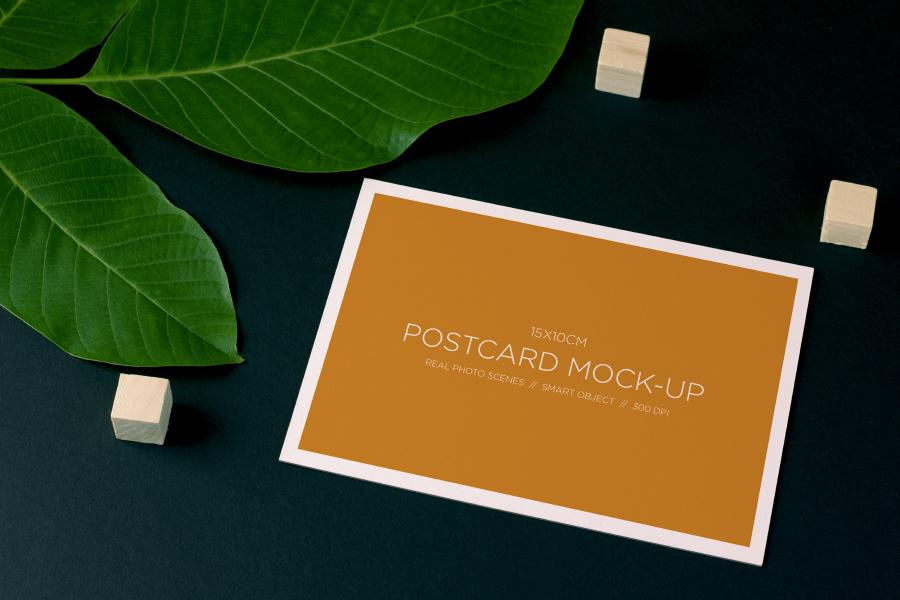 Nature Free Postcard Mockup