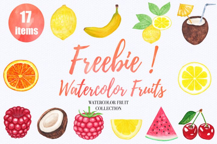 12 Free Watercolor Fruits