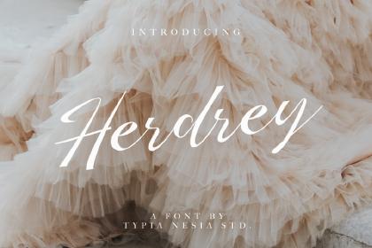 Herdrey Script Font Demo