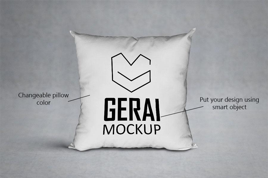 Free PSD Pillow Mockup
