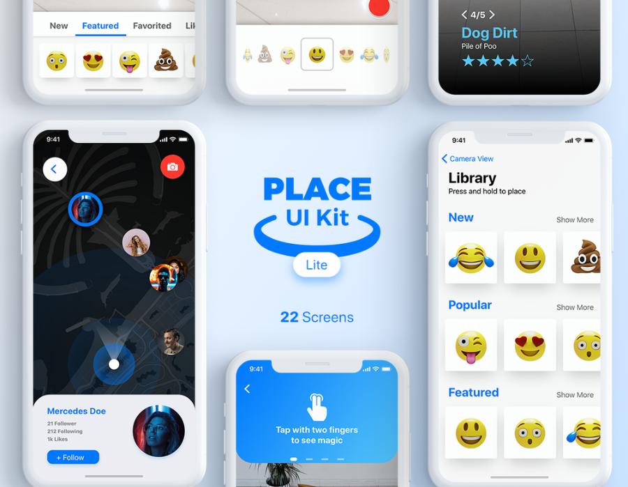 Place UI Kit Design Lite Version