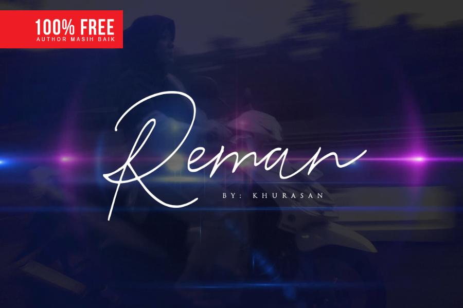 Reman Free Handwriting Script