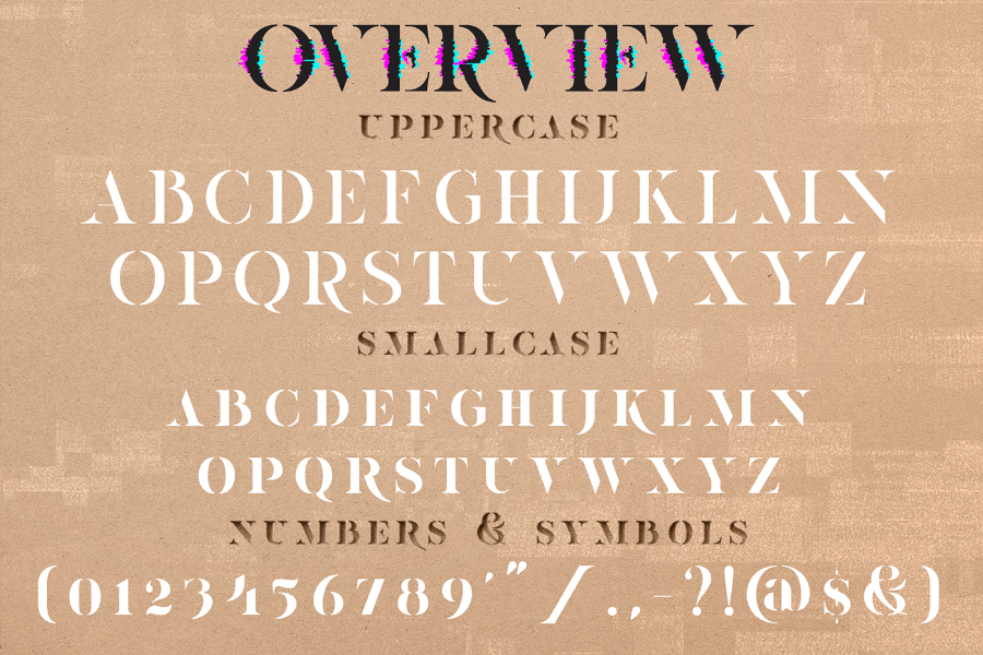 Ultravog Free Stencil Serif