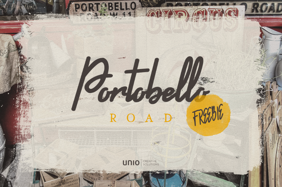 Portobello Road Font Demo