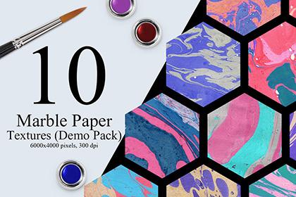 10 Marble Ink Paper Textures