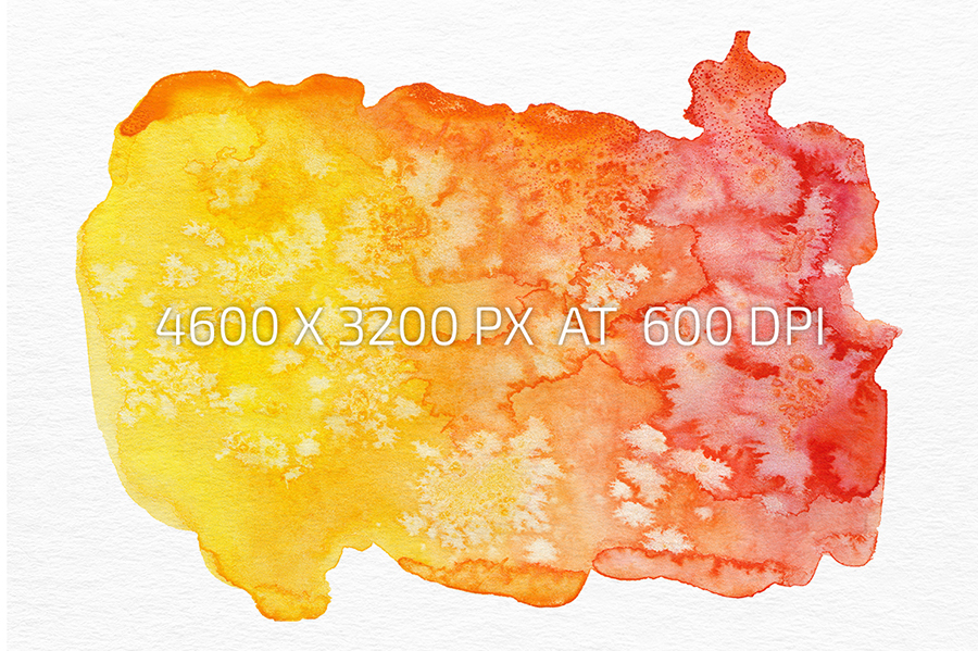 7 Salted Watercolor Shapes