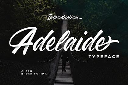 Adelaide Script Font Demo