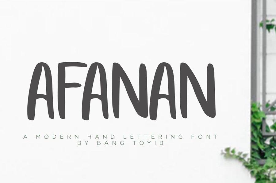 Afanan Brush Font Free Demo