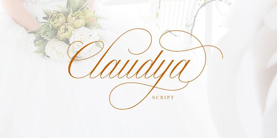 Claudya Script Free Demo
