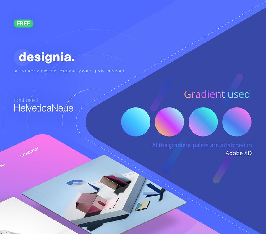 Designia Free Agency Landing Page