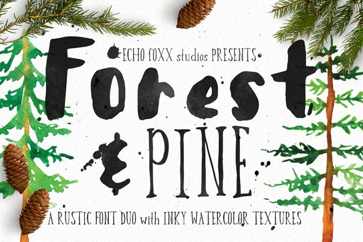 Forest Pine Free Font Demo
