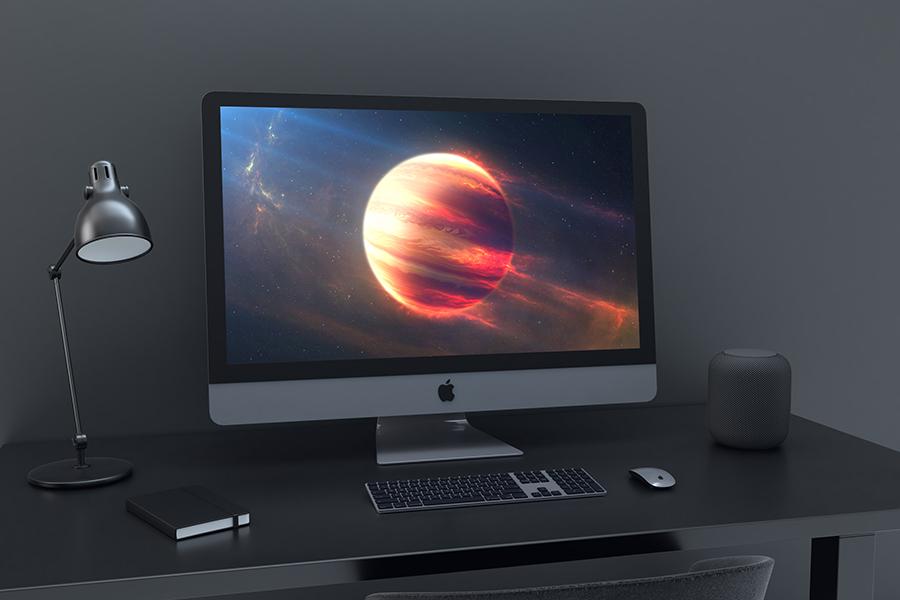 Free iMac Pro PSD Mockup