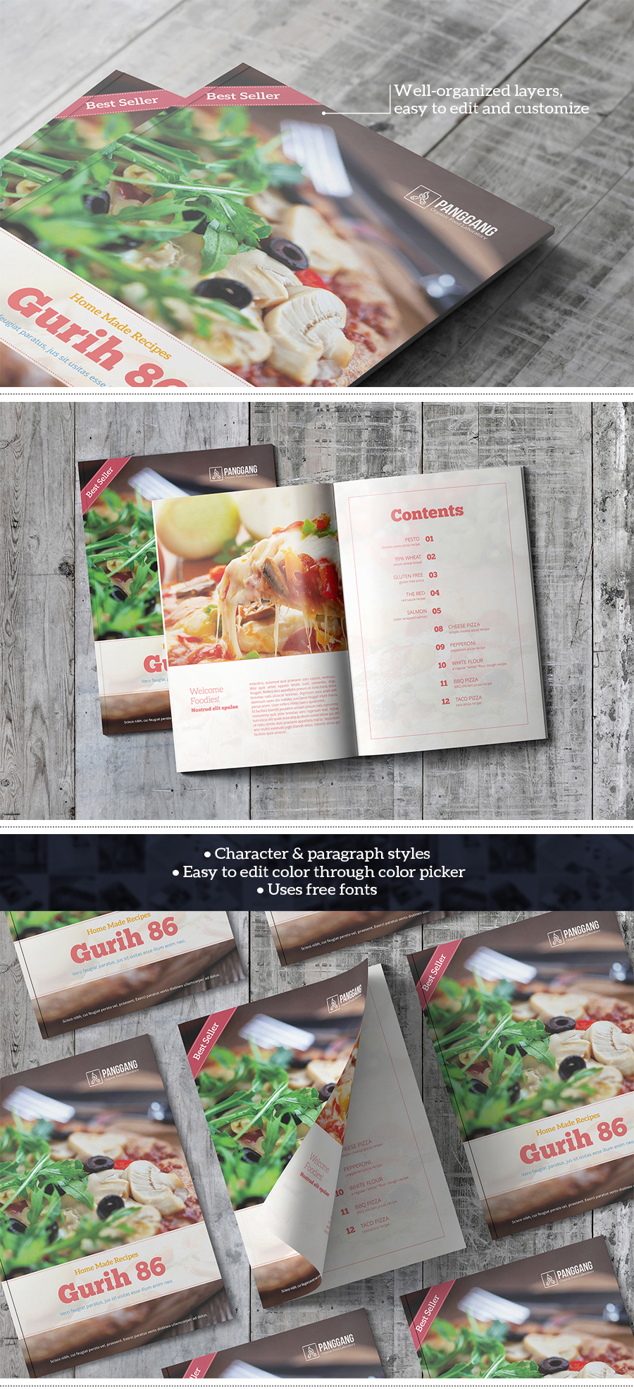 Gurih Cookbook Template Gurih Cookbook Template