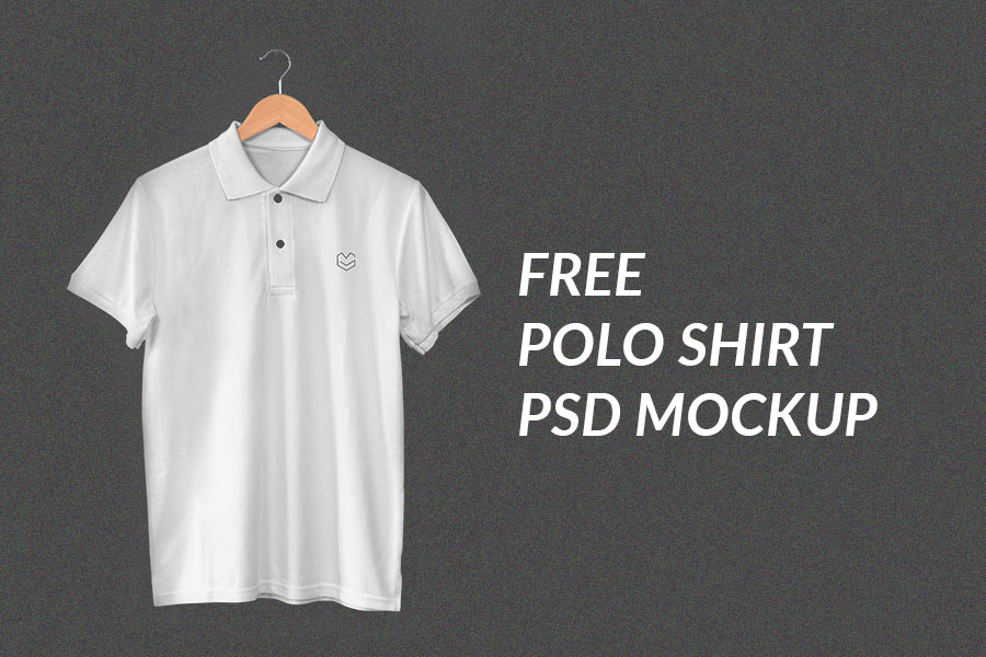 Hanging polo shirt psd mockup free design resources for Free polo shirt mockup