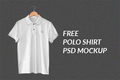 Hanging Polo Shirt PSD Mockup